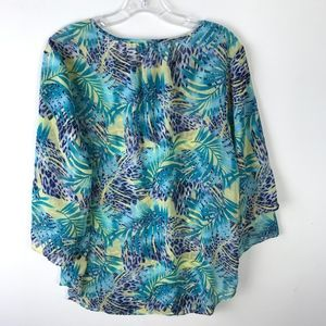 Chico's Tops - Chico's Tropical Semi-Sheer Blouse Size 1 #1027